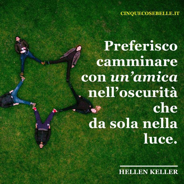 La frase di Hellen Keller