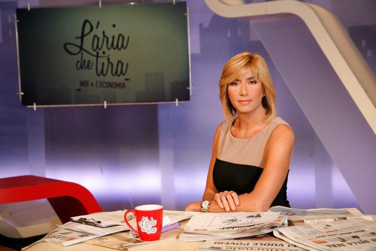 """Myrta Merlino, conduttrice e moderatrice del talk del mattino """"L'aria che tira"""" su La7"""