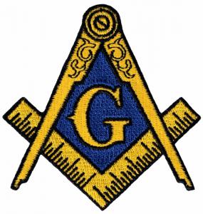 Il più celebre dei simboli della massoneria: squadra e compasso con in mezzo una G