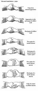 Una guida alle presunte strette di mano massoniche