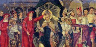 L'elezione di Celestino V – uno dei nomi più celebri nell'elenco dei papi medievali – in un dipinto anonimo conservato al Louvre
