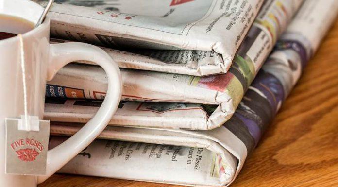 I cinque quotidiani italiani più venduti