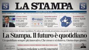 L'annuncio con cui La Stampa presentava la sua nuova versione digitale