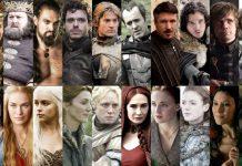 Alcuni dei principali personaggi de Il trono di spade