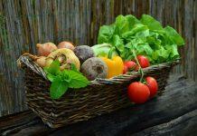 Un bel cesto con vari tipi di verdure, presenti anche in questo elenco