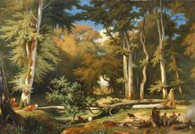 Alla scoperta degli animali del bosco grazie anche a questo quadro ottocentesco di Gabriel Bouret