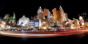 La Las Vegas Strip di notte