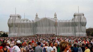 Il Reichstag imballato da Christo e Jeanne-Claude