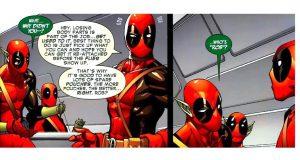 Deadpool parla direttamente all'autore delle sue storie