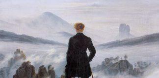 Dettaglio del Viandante sul mare di nebbia, uno dei quadri più famosi e belli del Romanticismo