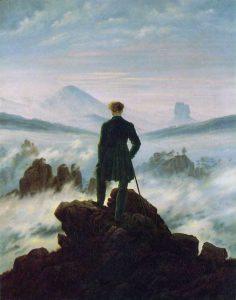 """Il """"Viandante sul mare di nebbia"""" di Caspar David Friedrich"""
