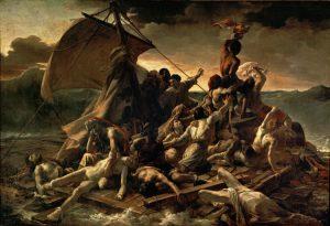 """""""La zattera della Medusa"""" di Théodore Géricault, uno dei più famosi quadri del Romanticismo francese"""
