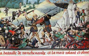 Illustrazione per la Chanson de Roland, forse il più celebre romanzo cavalleresco