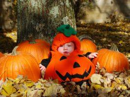 Per i bambini piccoli, i vestiti da zucca sono un classico ad Halloween (foto di James Willcox via Flickr)