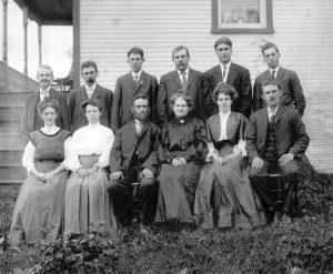 Una numerosa famiglia dell'Ottocento