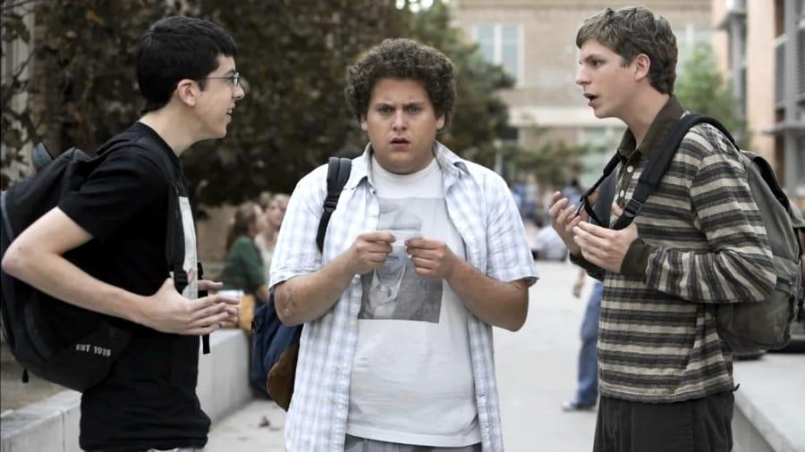 I tre protagonisti di Suxbad: Christopher Mintz-Plasse, Jonah Hill e Michael Cera