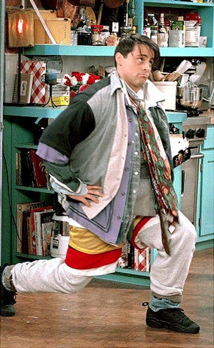 Joey di Friends quando si mise addosso tutti i vestiti di Chandler