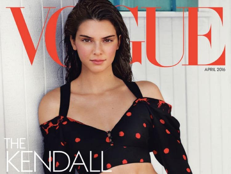Kendall Jenner, una delle più famose modelle americane di oggi, sulla copertina di Vogue