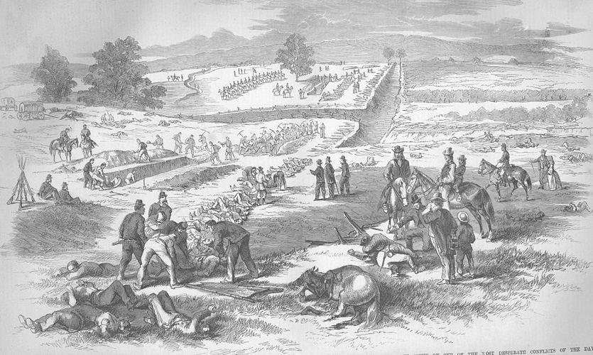 Gli eserciti seppelliscono i loro morti durante la Guerra civile americana