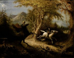 Gli avvenimenti di Sleepy Hollow in un quadro di John Quidor