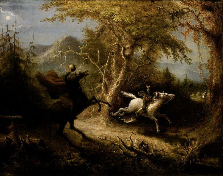 Gli avvenimenti di Sleepy Hollow in un quadro di John Quidor
