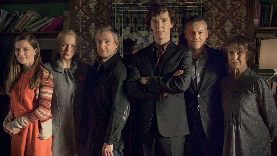 Una parte del cast di Sherlock, la bella serie TV
