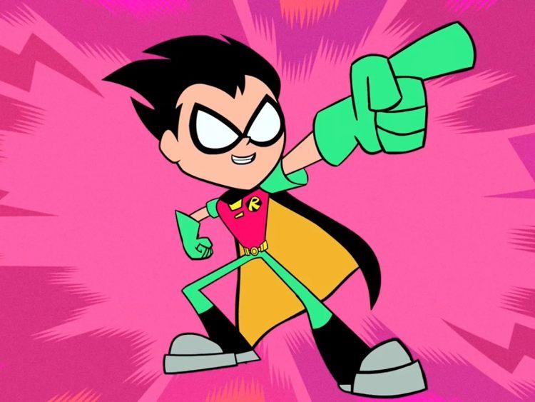 Robin così com'è caratterizzato nella serie Teen Titans Go!