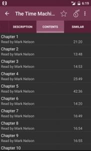I capitoli di uno degli audiolibri di LibriVox Audiolibri Free