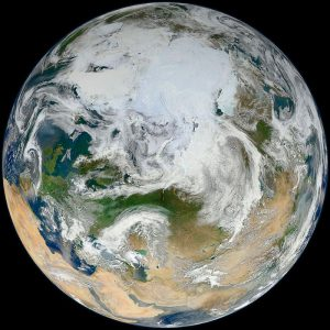 Il Circolo Polare Artico fotografato dal satellite Suomi NPP