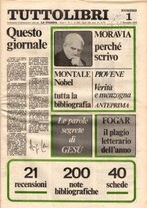 Il primo numero di Tuttolibri del 1975