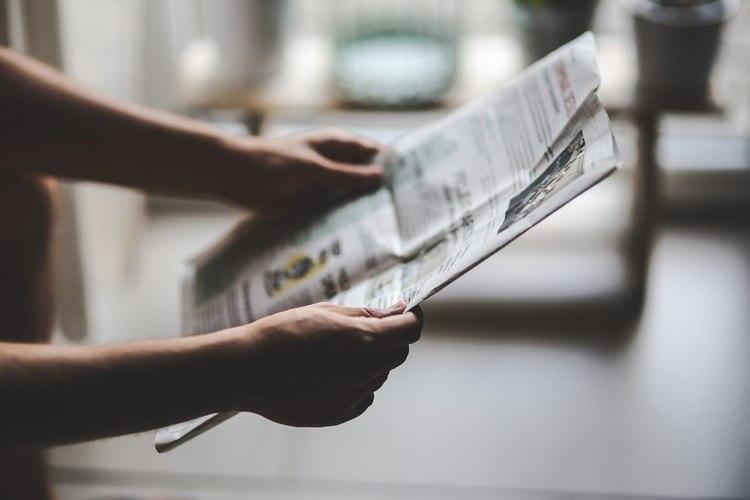 Scopriamo quali sono le parti che compongono un giornale