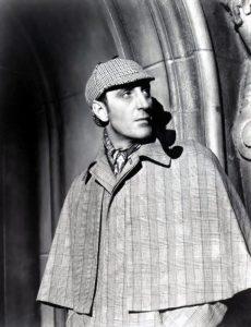 Basil Rathbone, attore che ha interpretato Sherlock Holmes tra gli anni '30 e gli anni '40