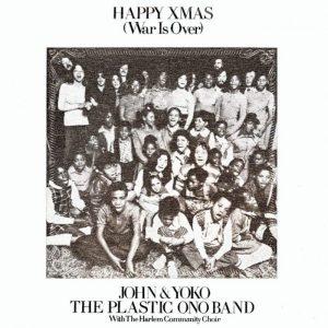 La copertina di Happy Xmas, celebre canzone di Natale rock