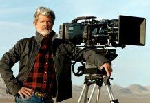 George Lucas con la macchina da presa, in una foto di qualche anno fa