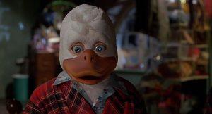 Una scena di Howard the Duck, film tratto dai fumetti Marvel e prodotto da George Lucas