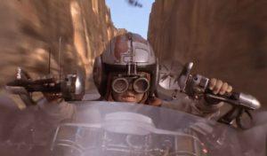 Una delle tante scene dei film di George Lucas in cui si dà grande spazio ai piloti