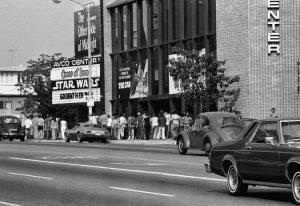 Uno dei cinema in cui, nel 1977, proiettavano il primo film della saga di Star Wars