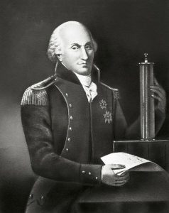 Coulomb, autore di una delle più importanti leggi dell'elettrologia