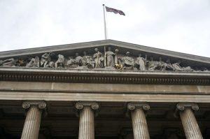 L'ingresso del British Museum, il più visitato museo inglese