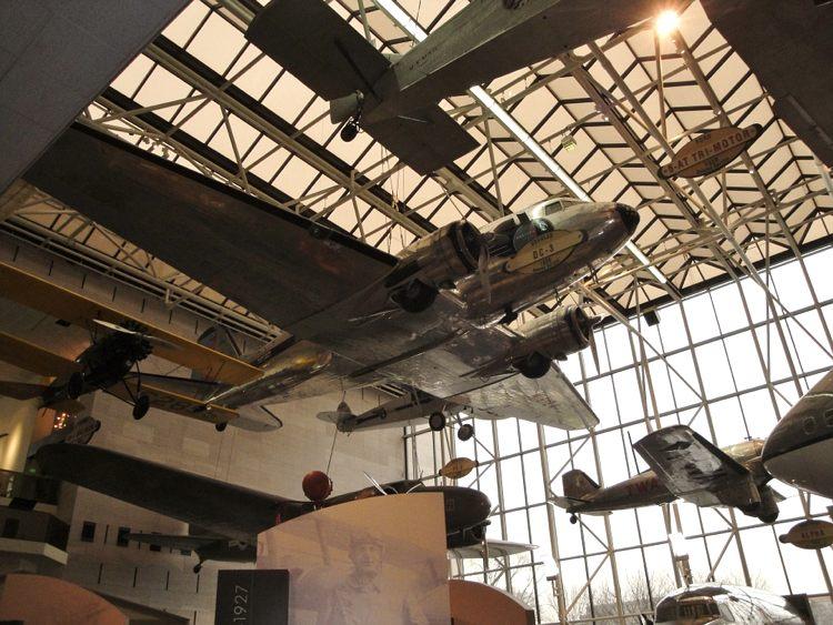 Gli aerei dello Smithsonian, uno dei musei più visitati del mondo