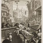 Gin Lane, celebre incisione di William Hogarth