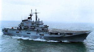 La portaerei Garibaldi a fine anni '80