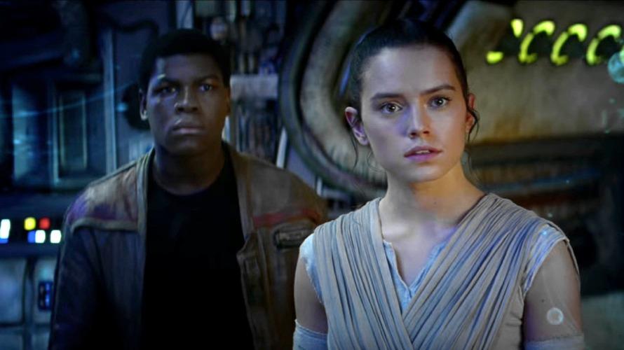 Rey e Finn, due dei nuovi protagonisti della saga di Star Wars