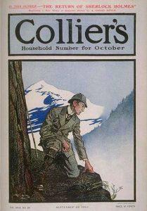 Il numero di Collier's che celebrava il ritorno di Sherlock Holmes e delle sue avventure