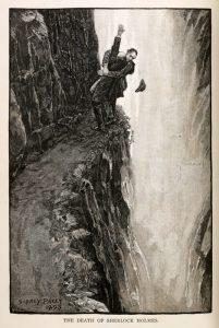La morte di Sherlock Holmes in un disegno d'epoca di Sidney Paget