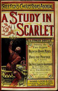 La prima edizione di Uno studio in rosso di Arthur Conan Doyle