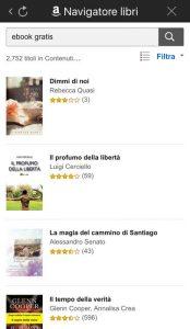 Alcuni dei libri gratuiti a cui si può accedere con l'app di Kindle