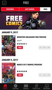 L'app ufficiale della Marvel con i fumetti gratis da leggere