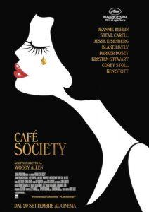 Il manifesto di Café Society, recente film di Woody Allen