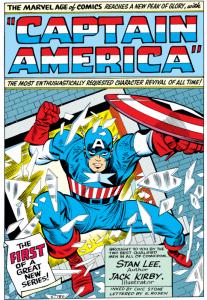 Capitan America negli anni '60, scritto da Stan Lee e disegnato da Jack Kirby